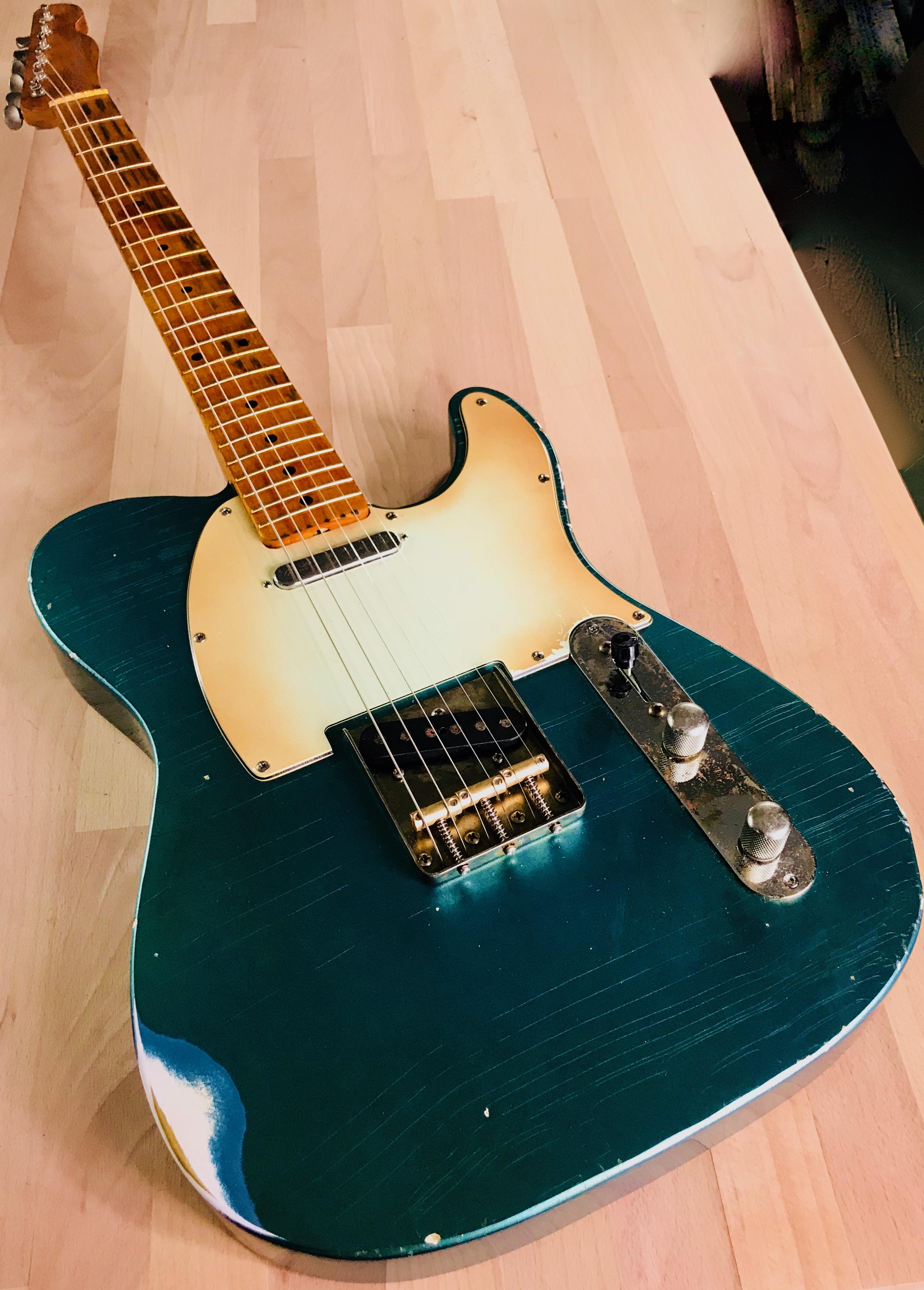 usa custom shop 1963 faded lake placid blue relic telecaster fender nos pickups s71guitars. Black Bedroom Furniture Sets. Home Design Ideas
